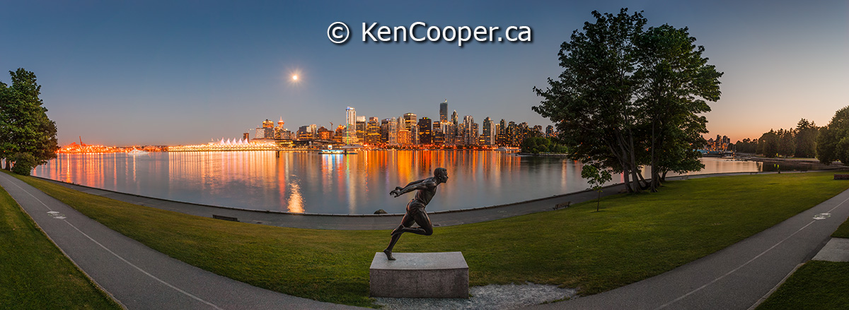 Statue of Harry Jerome - Stanley Park, Vancouver BC Canada.
