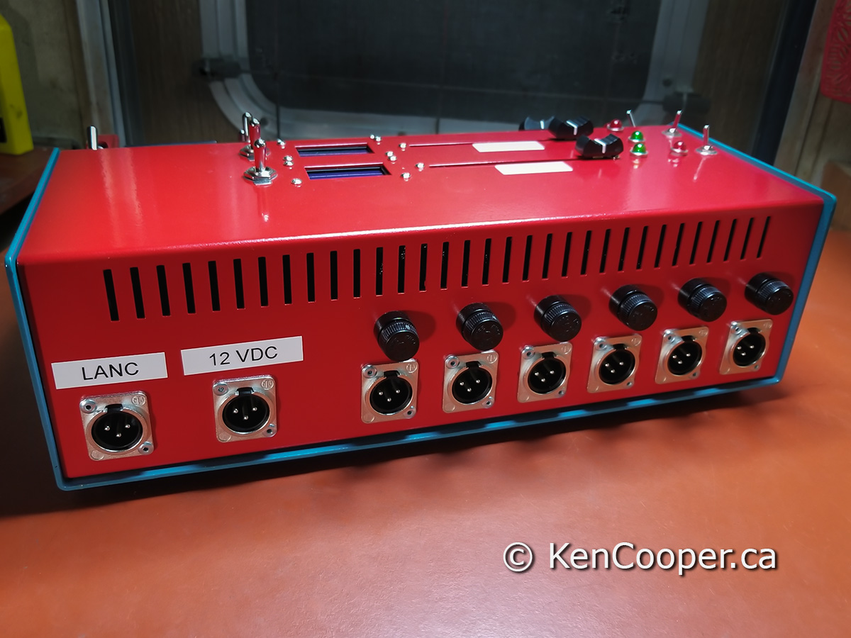Back view of completed console.