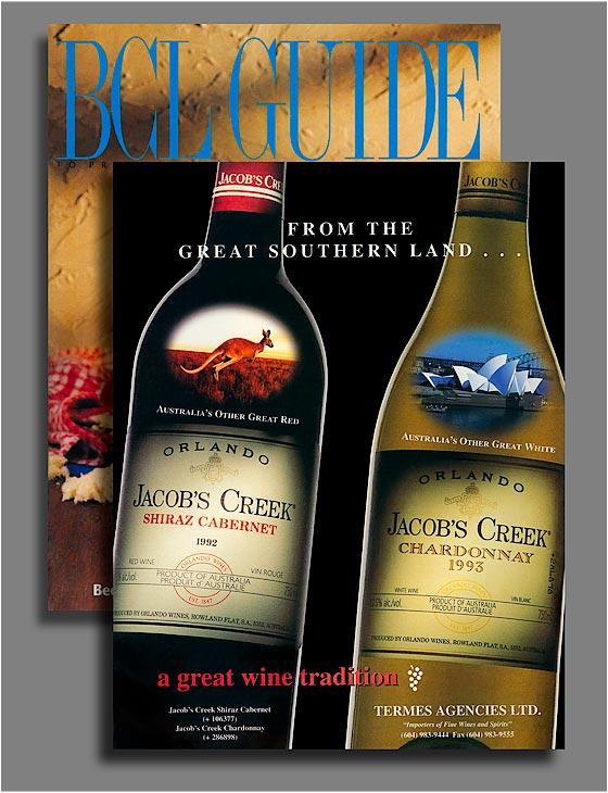 Jacob's Creek wine bottles.
