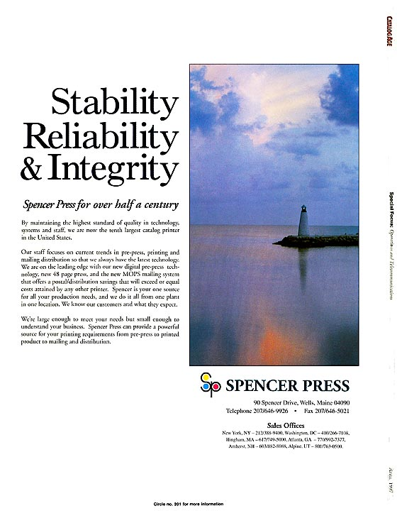 Spencer Press adv.