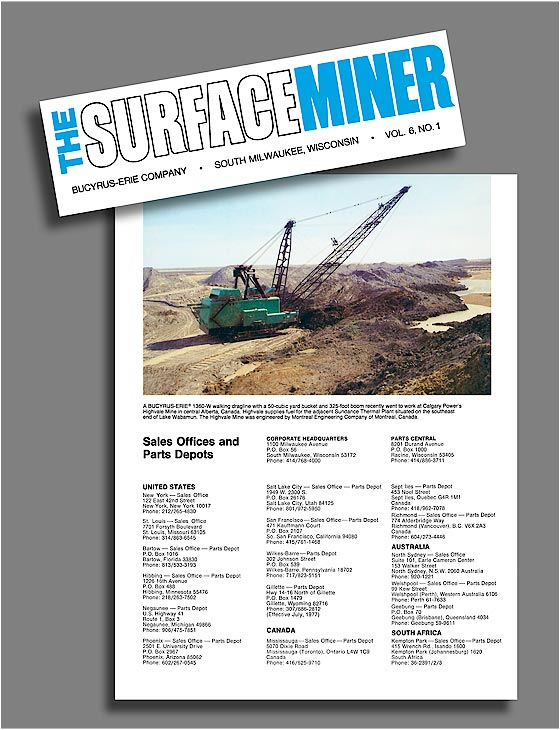 The Surface Miner adv - Bucyrus-Erie.