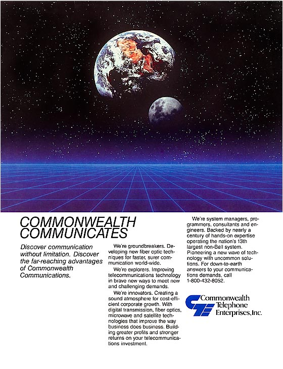 Commonwealth Telephone Enterprises - advertisement.