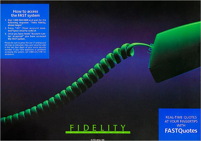 Fidelity FastQuotes - advertisement.