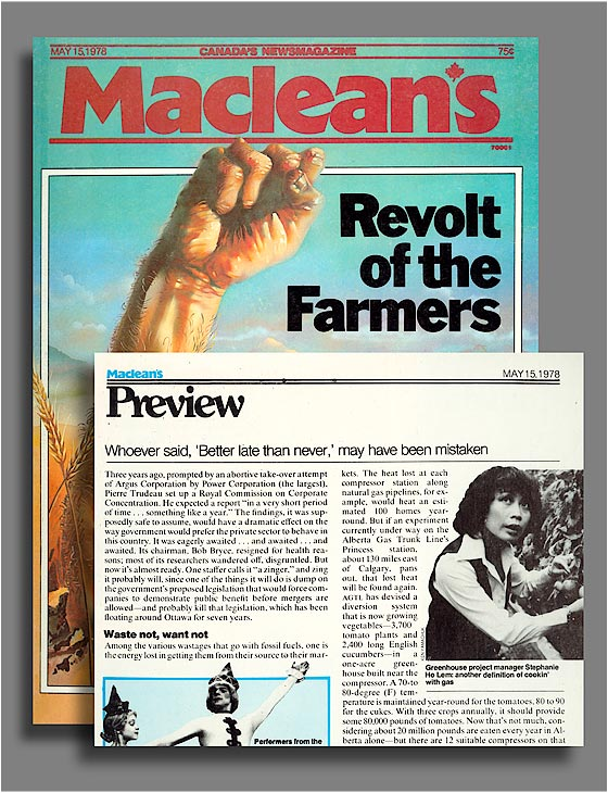 Macleans's Magazine - article.