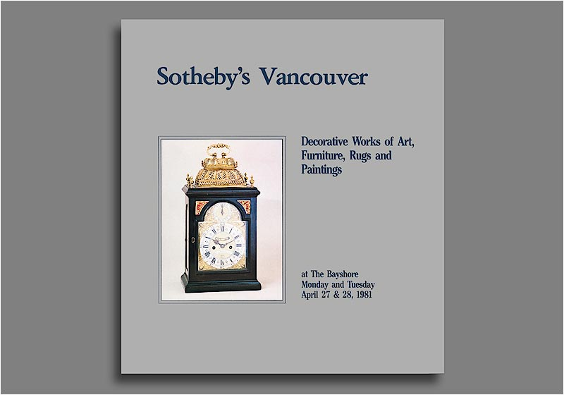Sotheby's Vancouver catalog - cover.