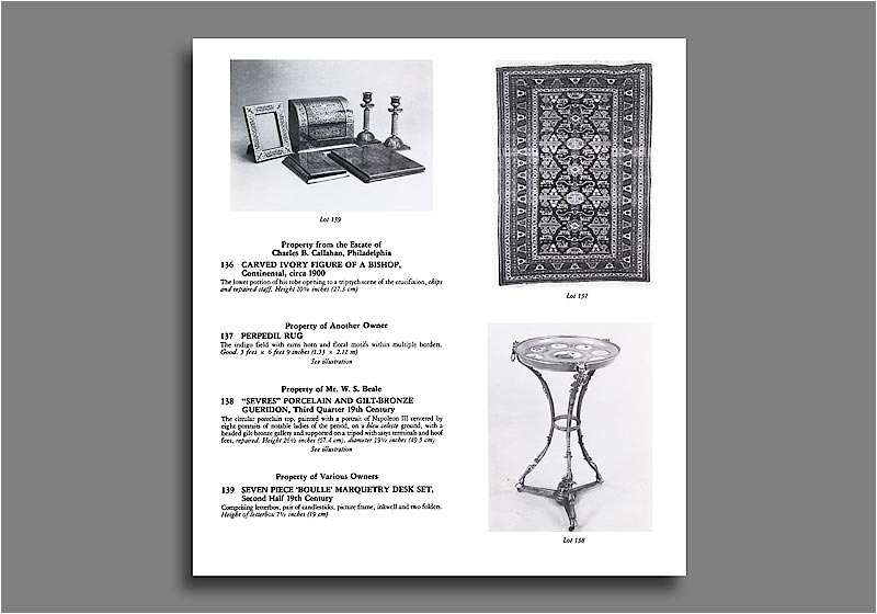 Sotheby's Vancouver catalog - items.
